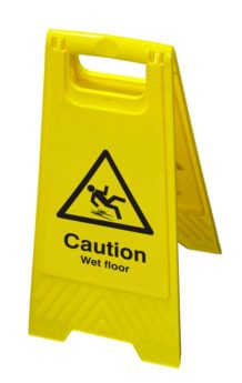 Hazard Floor Sign – Caution Wet Floor