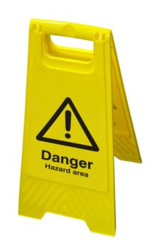 Hazard Floor Sign – Danger Hazard Area