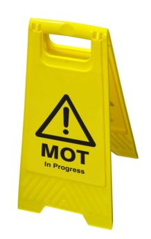 Hazard Floor Sign – MOT in Progress