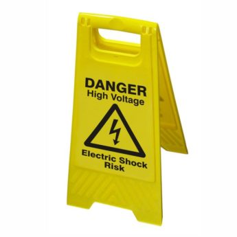 Hazard Warning Floor Sign – Danger High Voltage