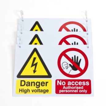 Electric & Hybrid Vehicles Warning Signs for Barrier Chain x 3