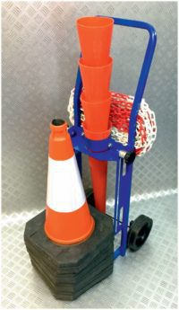 Prohibition Warning Cone & Chain Trolley System