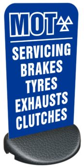 Forecourt/Pavement Sign – MOT, SERVICING, BRAKES, ETC