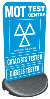 Forecourt/Pavement Sign – MOT, CATS, DIESELS TESTED