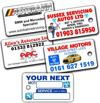 Key Ring MOT Reminder Tags