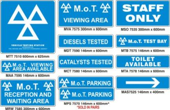 MOT Signs – Comprehensive – 12 Sign Pack