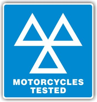 MOT Sign – 3 Triangles Motorcycles Tested Sign HEAVY DUTY