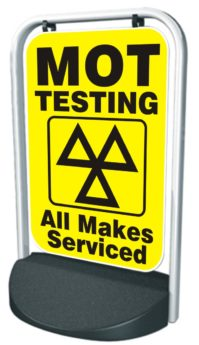 Swinger Pavement Forecourt Sign – MOT, ALL MAKES
