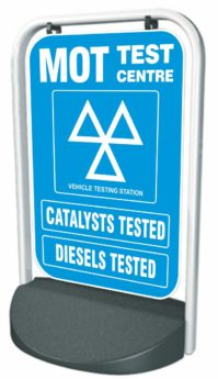 Swinger Pavement Forecourt Sign – MOT, CATS + DIESELS