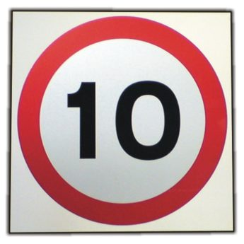 Speed Limit 10 mph Sign – REFLECTIVE