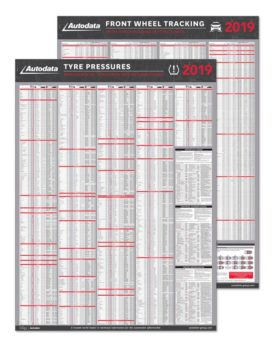 Tyre Pressures and Front Wheel Tracking Wallcharts 2019
