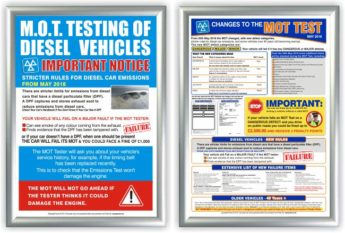 MOT Poster 2 PACK – Diesels and Test Changes (DTI + MTC)