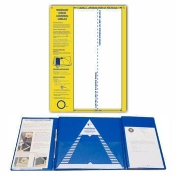Tyre Tread Width Gauge + Windscreen Damage Template