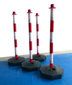 Chain Support Post 90cm – RED & WHITE with fillable base