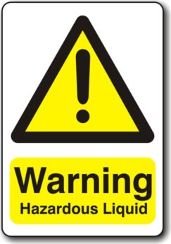 Warning Hazardous Liquid