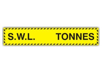 Safe Working Load Sticker – SMALL – TONNES