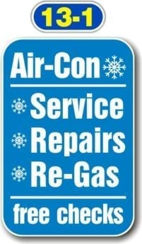 Sign Panels for Wall Mounting – Air-Con Service Repairs Re-Gas Free Checks