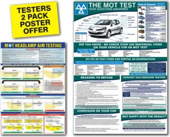 Testers 2 Pack Poster Offer