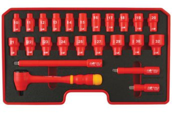 Insulated Socket Set ½inch Drive 24pc – VDE Certified
