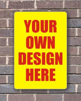 Sign Panel for Wall Mounting – Custom Design