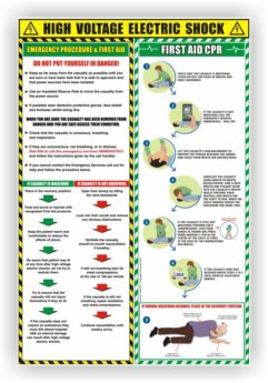 Electric Shock First Aid and CPR Advice – Polymer Poster