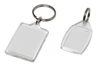 Blank Acrylic Car Key Fobs