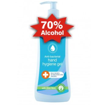 Anti-Bacterial Hand Sanitiser – 70% Alcohol – 500ml