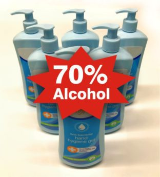Anti-Bacterial Hand Sanitiser – 70% Alcohol – 6 x 500ml Case