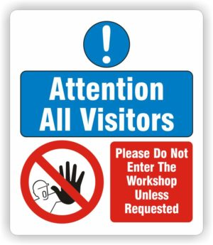 S/A Graphic for Pyramid Sign – Do Not Enter The Workshop