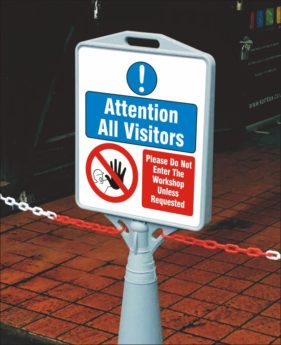 Pyramid Sign – Do Not Enter The Workshop