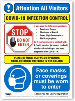 COVID-19 Visitor Advisory Poster (3mm Polymer Panel)