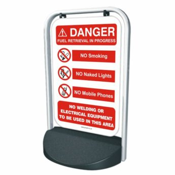 SWINGER Forecourt/Pavement Sign – Fuel Retrieval