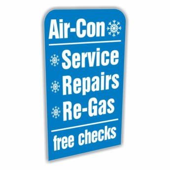 REPLACEMENT PANEL Air-Con Service – Pavement Sign