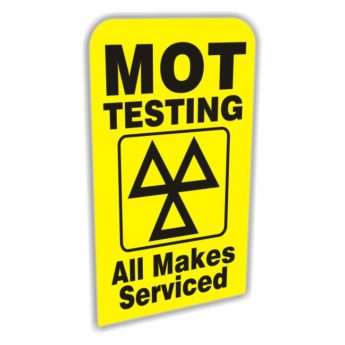 REPLACEMENT PANEL MOT Testing All Makes – Pavement Sign