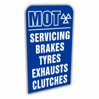 REPLACEMENT PANEL MOT Servicing Brakes – Pavement Sign