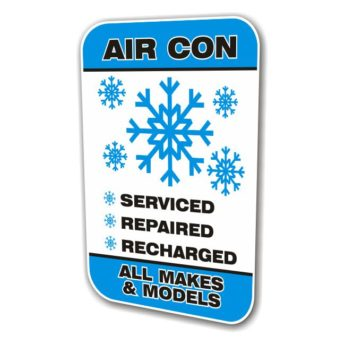 REPLACEMENT PANEL Air Con All Makes Swinger Sign
