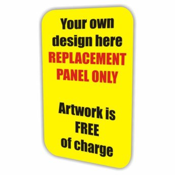 Pavement Swinger Sign REPLACEMENT PANEL ONLY – Custom Design