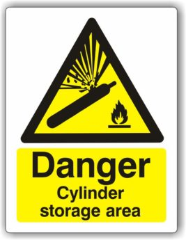 Danger Cylinder Storage Area