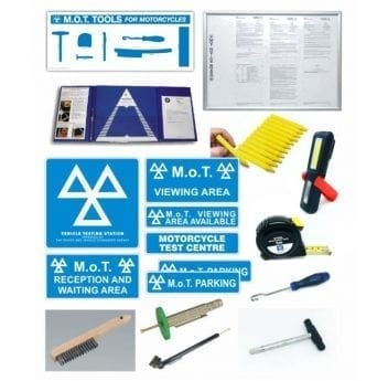 MOTORCYCLE MOT Bay Core Products & Small Tools PACK –  Class 1 & 2