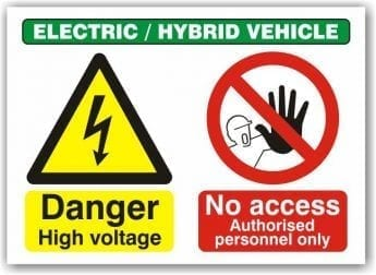 Danger High Voltage / No Admittance Sign – 300 x 400mm