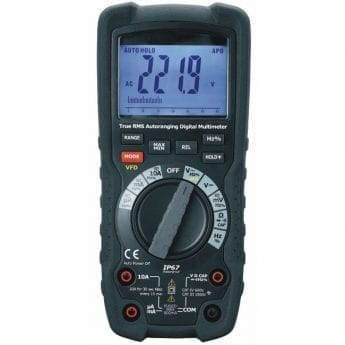 EHV Multimeter CATIII approved for safe work up to 1,000 Volts.