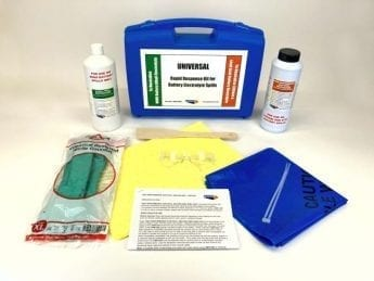 UNIVERSAL – Spill Response Kit for LITHIUM & NiMH Battery Electrolyte