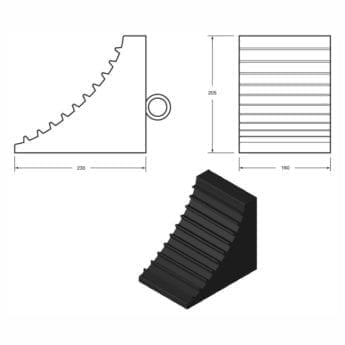 Solid Rubber Wheel Chocks for HGV & PSV – DVSA Acceptable