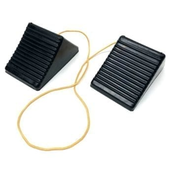 Rubber Wheel Chocks with Link Cord for Cars and Small Vans