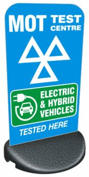 Forecourt/Pavement Sign – ELECTRIC & HYBRID VEHICLES TESTED HERE