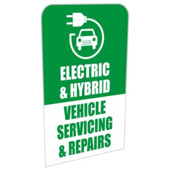 REPLACEMENT PANEL Electric & Hybrid Vehicles Servicing & Repairs – Pavement Sign