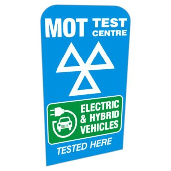 REPLACEMENT PANEL Electric & Hybrid Vehicles Tested Here – Pavement Sign